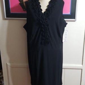 NWT JULIAN TAYLOR - COCKTAIL BLACK DRESS size 22
